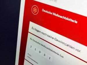 Spielschein Deutsche Weihnachtslotterie bei Lotto24