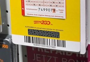 Lotto2go Aktionscode Feld zum Freirubbeln