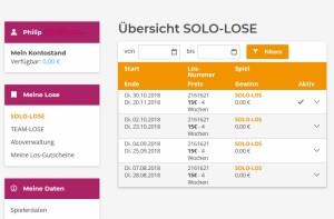 Profil bei Bildungslotterie.de