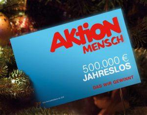 500.000 € Hauptgewinn - das Aktion Mensch Jahreslos