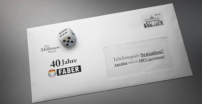 """Brief """"Der Millionenwürfel"""""""