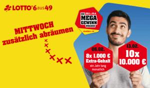 WestLotto Sonderauslosung MEGA-Gewinn-Wochen