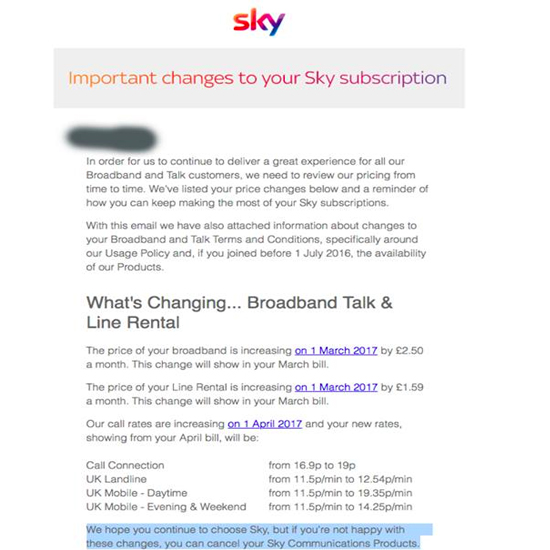 cancel broadband contract