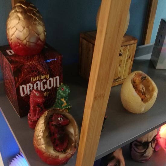 Dragon egg candle