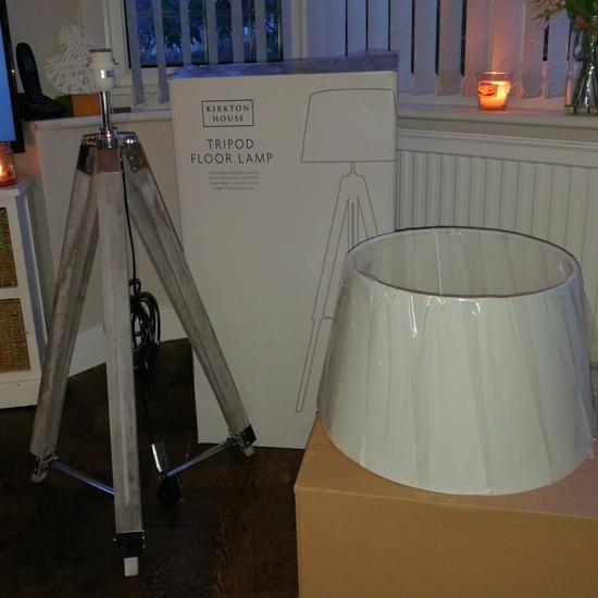 Aldi kirkton tripod lamp