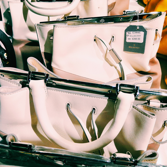 9fbe6f7b1eb2 Inside a Mulberry sample sale - discounted designer bags - lottyearns