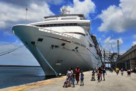 Carnival Fascination docked in Barbados