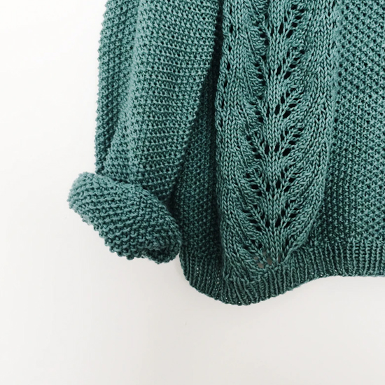 teal green knitted jumper