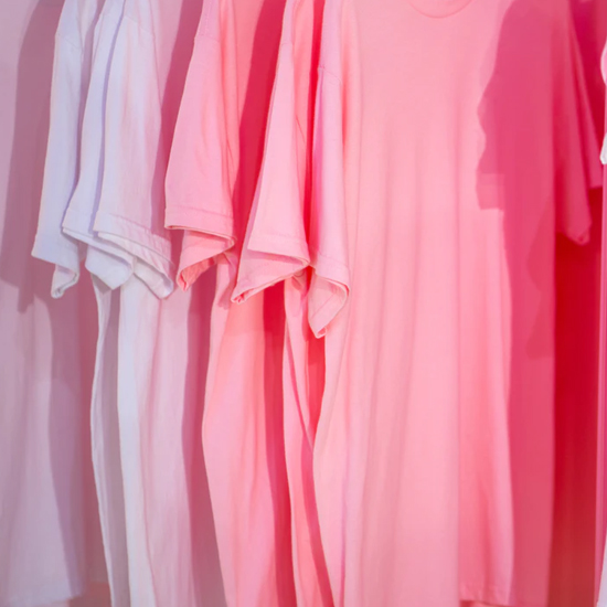 pink and purple pastel t-shirts