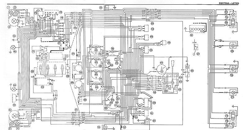 Lotus Cortina Wiring Diagrams