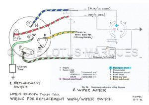 Lotus Europa TC washwiper switch wiring diagram