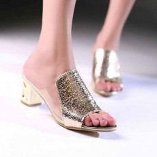 รองเท้าส้นสูง สวมออกงานราตรีแต่งงานส้นทองหรูหราแฟชั่นเกาหลี นำเข้า ไซส์34ถึง39 สีทอง - พรีออเดอร์HS187-5 ราคา1990บาท