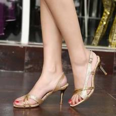 รองเท้าส้นสูงสีทอง สำหรับออกงานราตรีหรูหราแฟชั่นเกาหลีรัดส้น นำเข้า ไซส์34ถึง39 สีทอง - พรีออเดอร์HS189-0 ราคา1650บาท