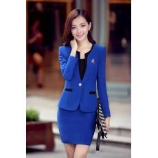 ชุดสูทผู้หญิง แฟชั่นเกาหลี2ชิ้นคุณภาพหรูหรา นำเข้า ไซส์SถึงXXL สีน้ำเงิน - พรีออเดอร์SJ2013 ราคา2850บาท