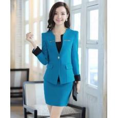 ชุดสูท แฟชั่นเกาหลีผู้หญิงสวย2ชิ้นอินเทรนด์ใหม่ นำเข้า ไซส์Sถึง3XL สีฟ้า - พรีออเดอร์SJ2014 ราคา2850บาท