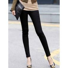 กางเกงเลคกิ้ง แฟชั่นเกาหลีเอวสูงสวยใส่สบายมีกระเป๋า นำเข้า สีดำ ไซส์XLและ2XL - พร้อมส่งTJ7146 ราคา670บาท