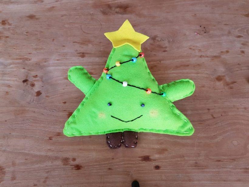 kerstboomkussen