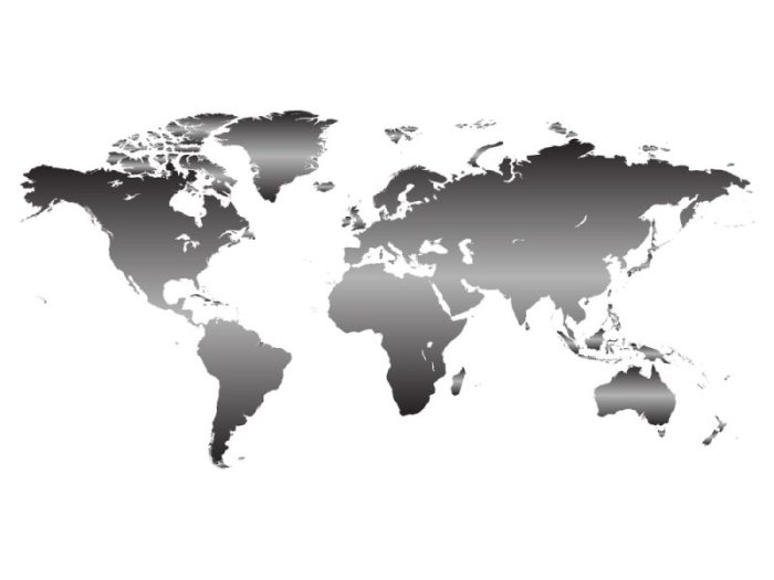 wereldkaart trend