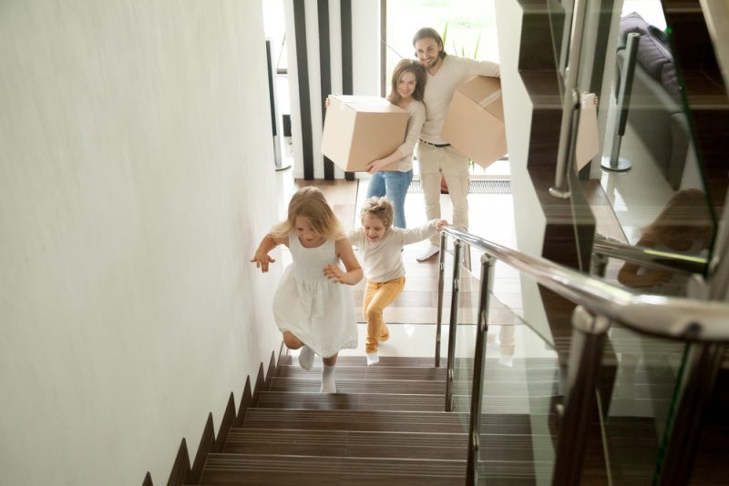 veilige trap met kinderen