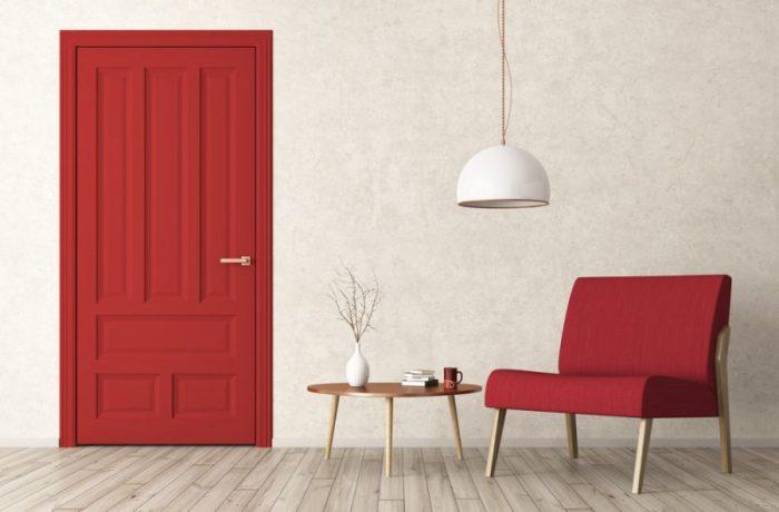 rode binnendeur interieur