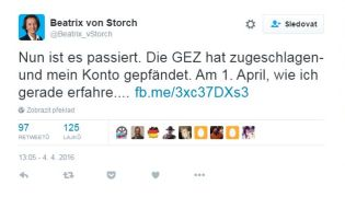 tweet Beatrix von Storch