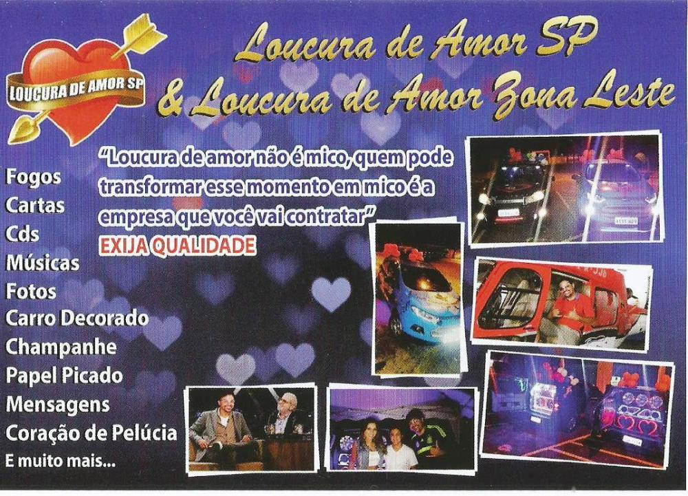 Loucura de Amor SP whatsapp 11 9-6270-4454