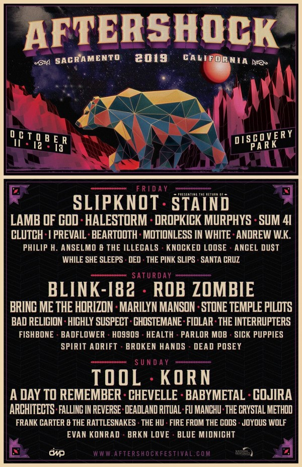 AFTERSHOCK 2019 LINEUP ANNOUNCED!