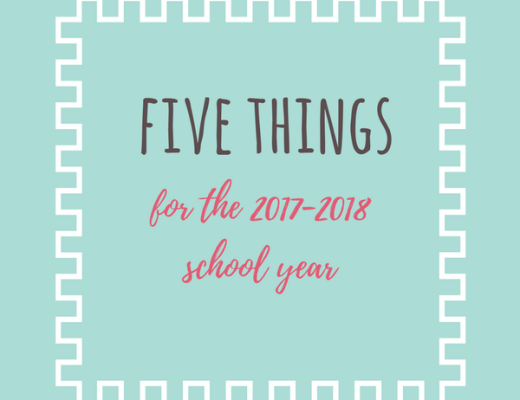 five things for 2017 school year