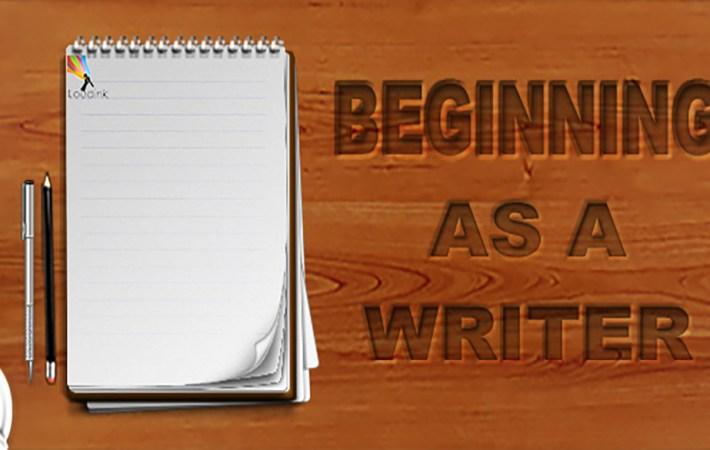 Begining as a writerCupSlider