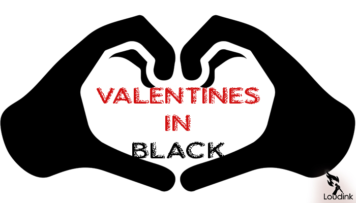 Valentine in black. artwork