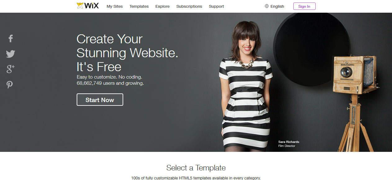 WiX Free website builder