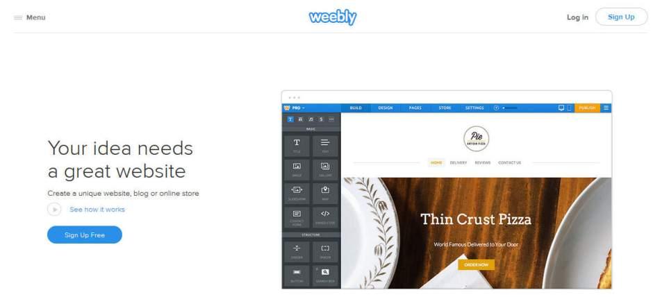 Weebly Online Free Website Builder