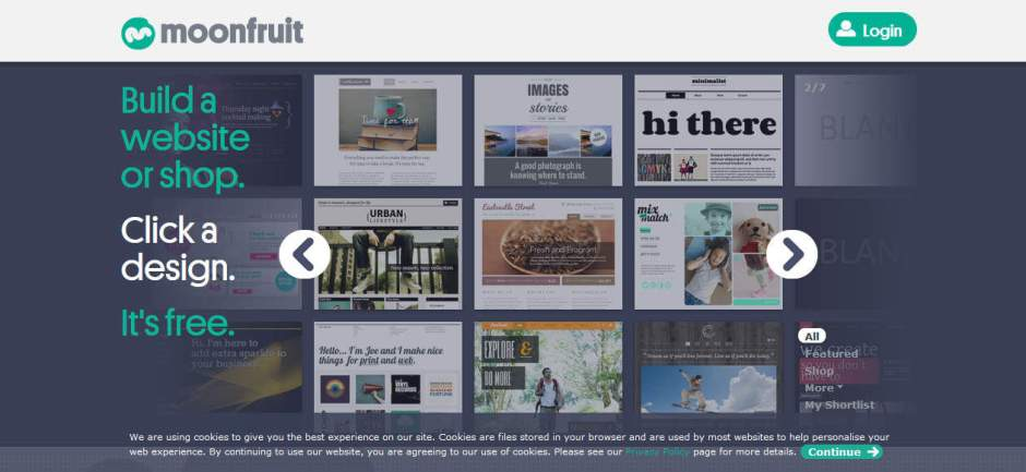 Moonfruit Online Free Website Builder