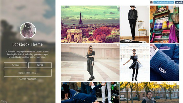Lookbook – Free Tumblr Photography Theme