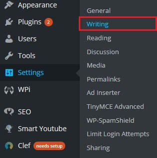 How to add or update WordPress ping list