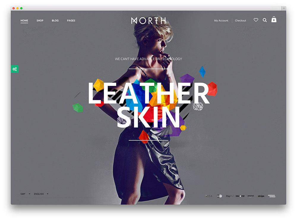North Ecommerce SEO frienly wordpress theme