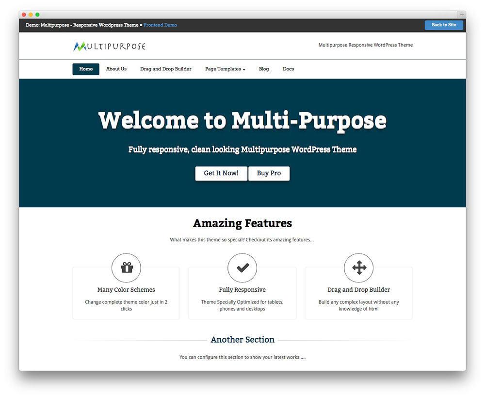 MultiPurpose Free WordPress Business Services Theme