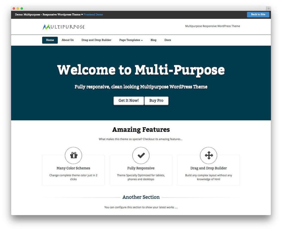 MultiPurpose Free WordPress Business Services Theme