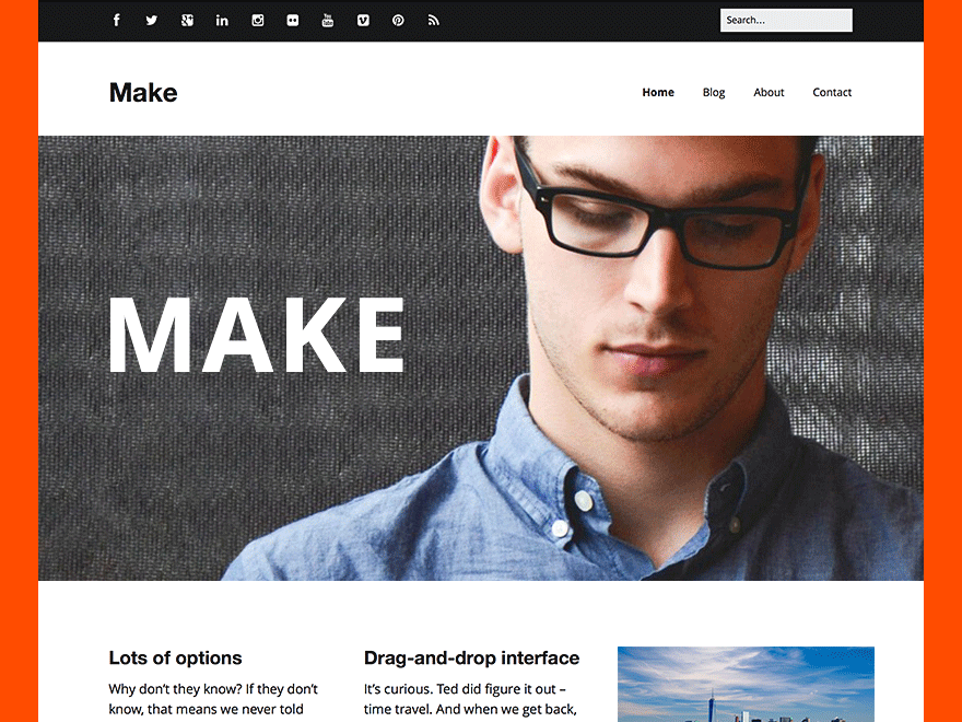 Make Free wordpress business theme