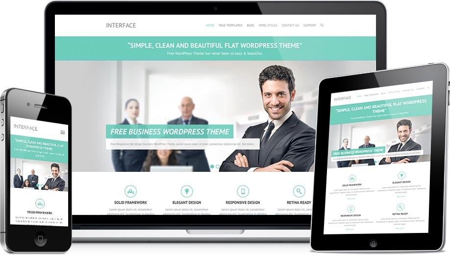 Interface Free WordPress Business Services Theme