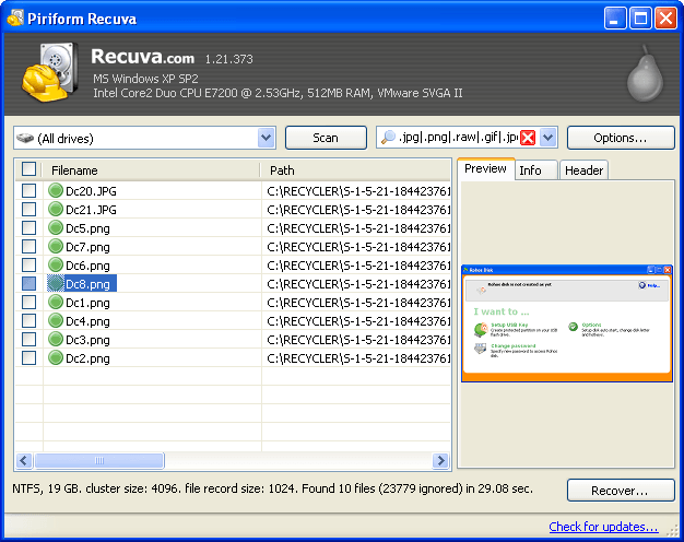 Recuva Best recovery software 2016