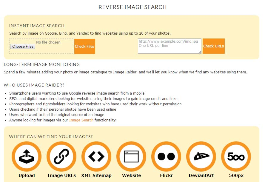 Image Reverse Image Search Engines