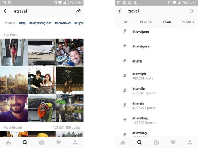 Tricky Instagram Deep Hashtag Search