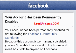 permanent disabled facebook account