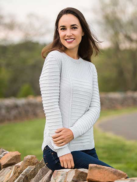 Harlow Louet North America Knitting pattern merino
