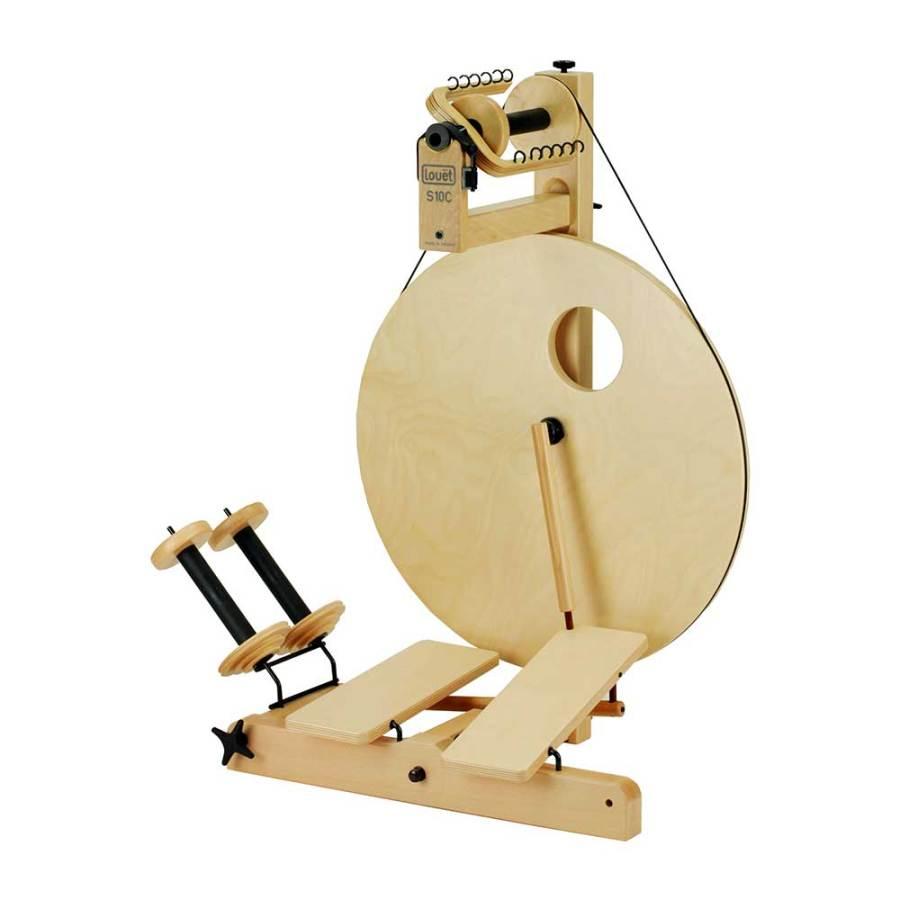 Irish tension double treadle Louet Spinning Wheel