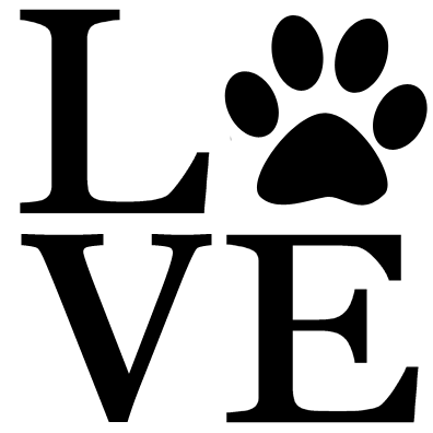 Download LOVE Paw Print Decal - Louis and Oliver