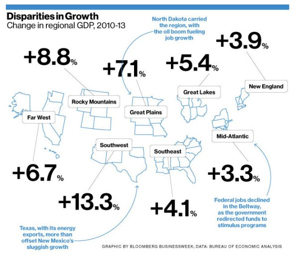 map GDP by region
