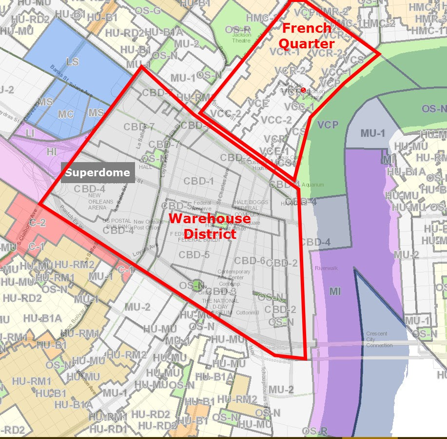 zoning map new orleans New Orleans Commercial Real Estate Zoning For Dummies Louisiana zoning map new orleans