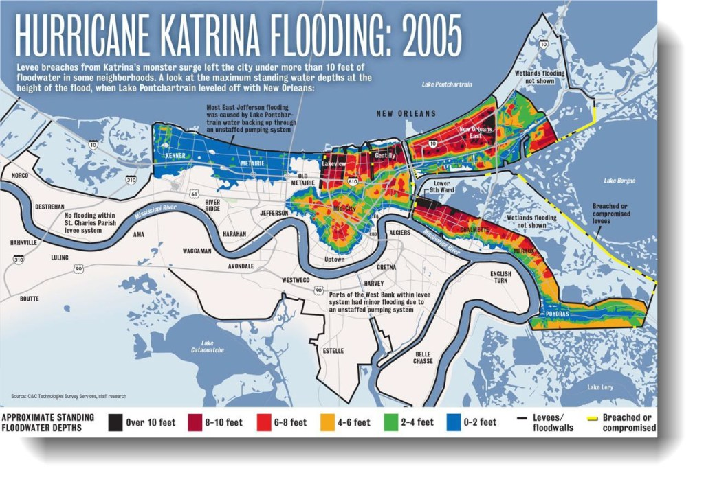 Katrina flood areas